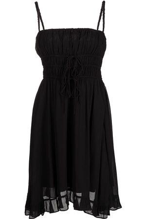 Cynthia Rowley Smocked spaghetti shoulder dress