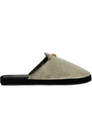 Giuseppe Zanotti Domitille velvet slippers - Grey