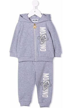 Moschino Sets - Logo-print tracksuit set - Grey
