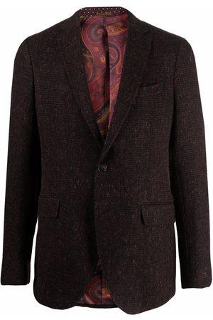 Etro Tweed single-breasted blazer