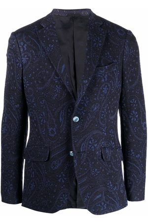 Etro Men Blazers - Paisley jacquard wool blazer