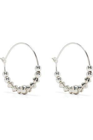 Petite Grand Women Earrings - Iris beaded hoop earrings