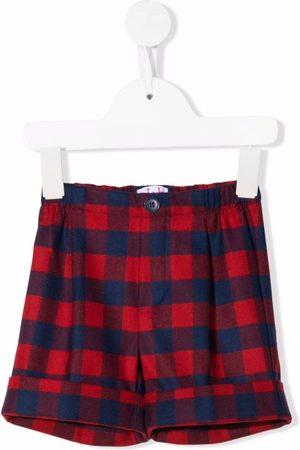 Il Gufo Check-print shorts