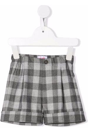 Il Gufo Plaid-check shorts - Grey