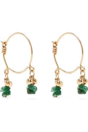 Petite Grand Bella emerald hoop earrings