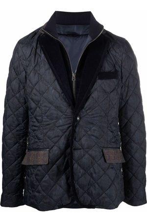 Etro Men Blazers - Paisley-print quilted jacket
