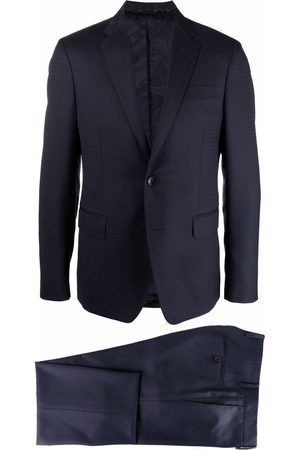 Etro Houndstooth jacquard tailored suit