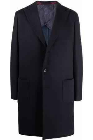 Etro Single breasted cashmere-blend coat