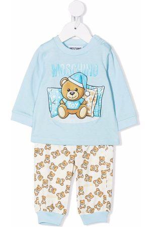 Moschino Kids Sleeping bear trouser set