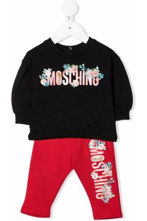 Moschino Floral-print logo trouser set