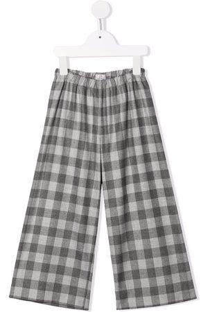 Il Gufo Check-print trousers - Grey