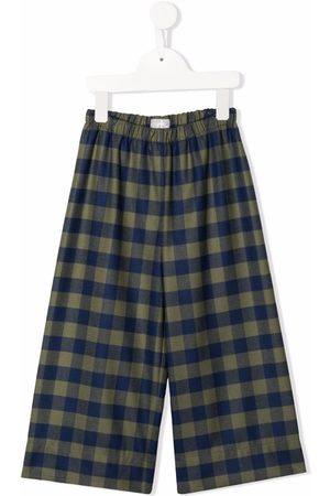 Il Gufo Check-print trousers
