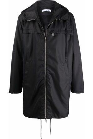 OFF-WHITE Men Rainwear - Embroidered logo raincoat