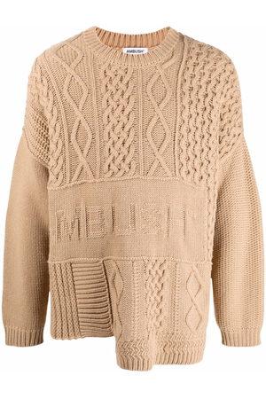 AMBUSH Patchwork cable-knit jumper - Neutrals