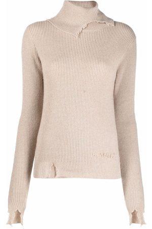 Alanui Ribbed-knit roll-neck jumper - Neutrals