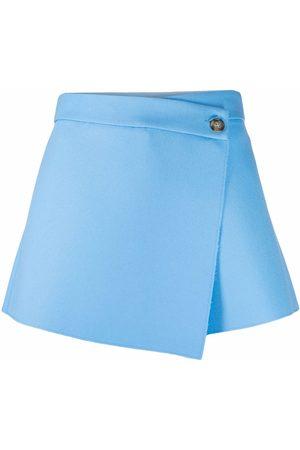 MSGM Women Skorts - Asymmetric-wrap skort shorts