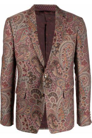 Etro Men Blazers - Paisley jacquard blazer - Neutrals