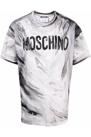 Moschino Paint-effect short-sleeve T-shirt