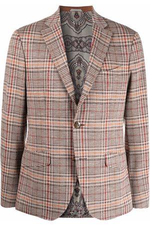Etro Men Blazers - Tailored Prince of Wales blazer - Neutrals