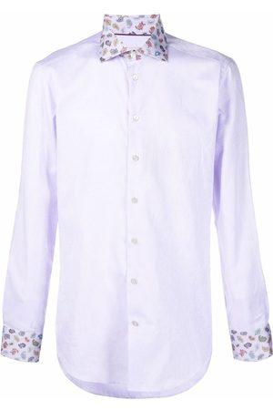 Etro Men Shirts - Paisley-print collar shirt