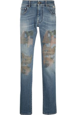 Etro Camouflage-embroidery jeans