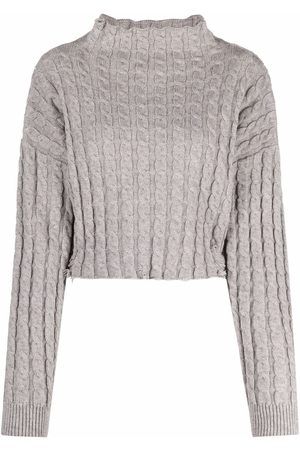 Pinko Distressed-finish knitted jumper - Grey