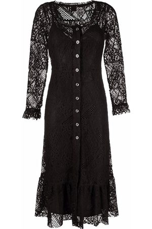 Pinko Floral-lace sleeves dress