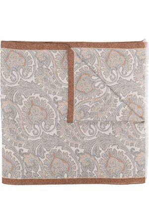 ELEVENTY Paisley-print fine-knit scarf - Grey
