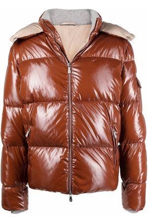 ELEVENTY Puffer Jackets - High-shine hooded padded jacket