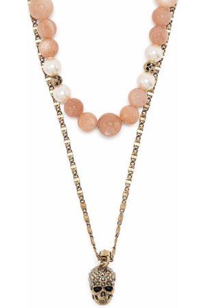 Alexander McQueen Women Necklaces - Skull charm beaded double necklace