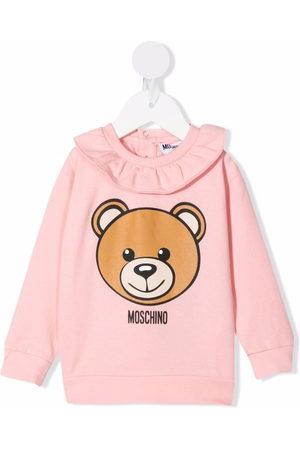 Moschino Kids Logo bear print top