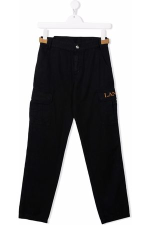Lanvin TEEN logo-embroidered cargo trousers