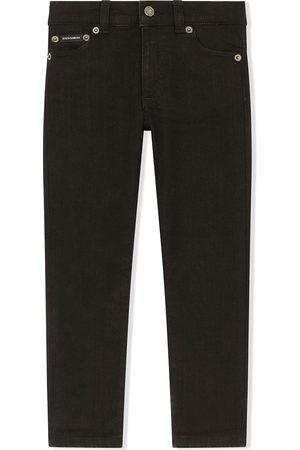 Dolce & Gabbana Boys Slim - Logo-patch slim jeans