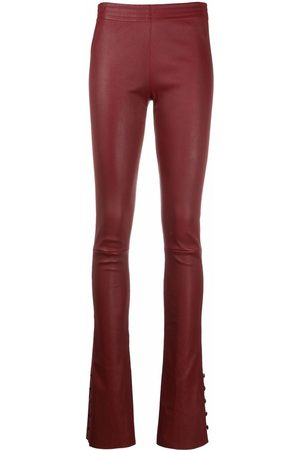 Drome Women Bootcut - High-waisted boot-cut leather skinny trousers