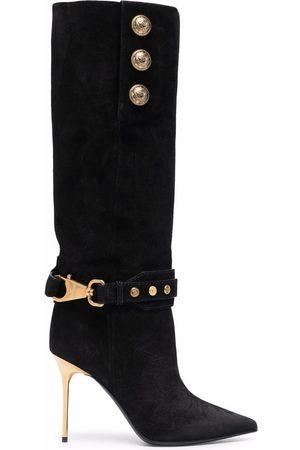 Balmain Women Boots - Robin suede boots
