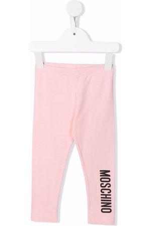 Moschino Kids Baby Leggings - Logo-print cotton leggings