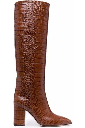 Paris Texas Crocodile-effect knee-high boots