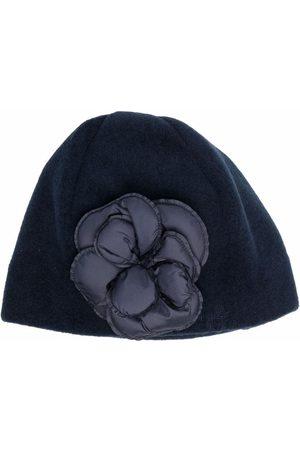 Il Gufo Girls Beanies - Flower-embellished beanie hat