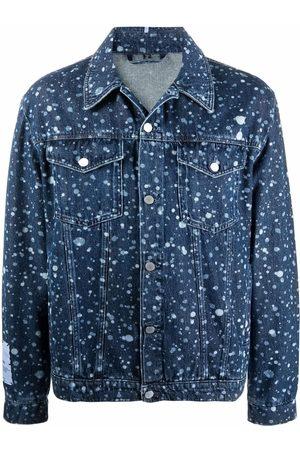 MCQ Men Denim Jackets - Paint-splatter denim jacket