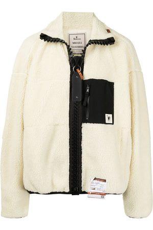 Maison Mihara Yasuhiro Men Fleece Jackets - Chest-pocket panelled fleece jacket
