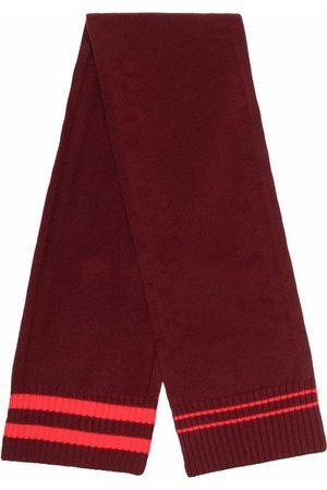 Maison Margiela Men Scarves - Stripe-detail knit scarf