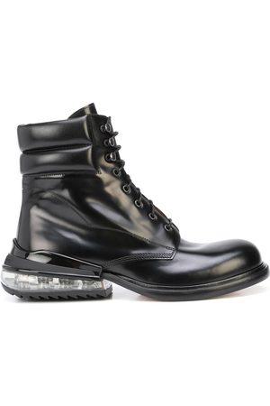 Maison Margiela Polished-finish lace-up boots