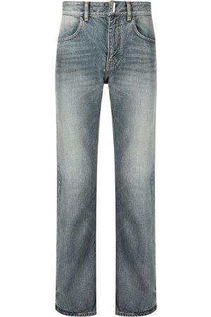 Givenchy Bleach-effect straight-leg denim jeans
