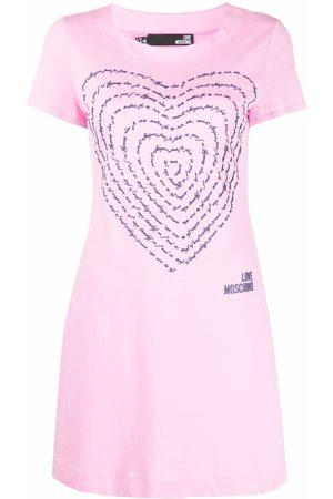 Love Moschino 3D-heart jersey T-shirt dress