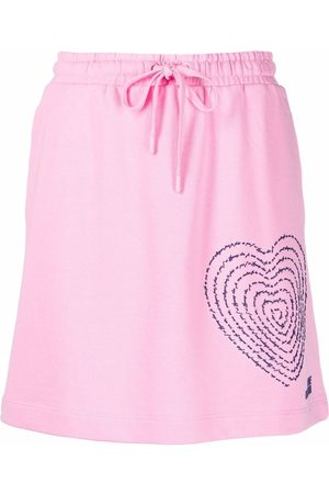 Love Moschino 3d-print fleece skirt