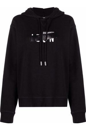 Dsquared2 Blocked-logo print hoodie