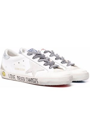Golden Goose Love Never Changed low-top leather sneakers