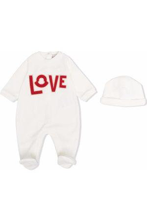 Moncler Enfant Love logo-detail babygrow set