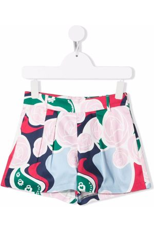 Simonetta Girls Shorts - Graphic-print pleated shorts