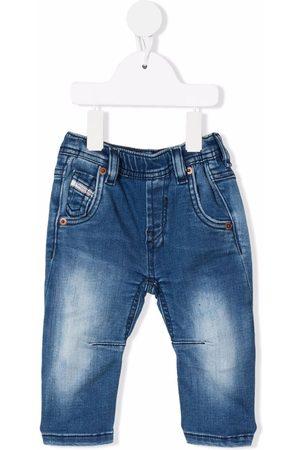 Diesel Kids Stonewashed straight-leg jeans